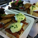 Bacon Benny,  on our Winter Brunch Menu.